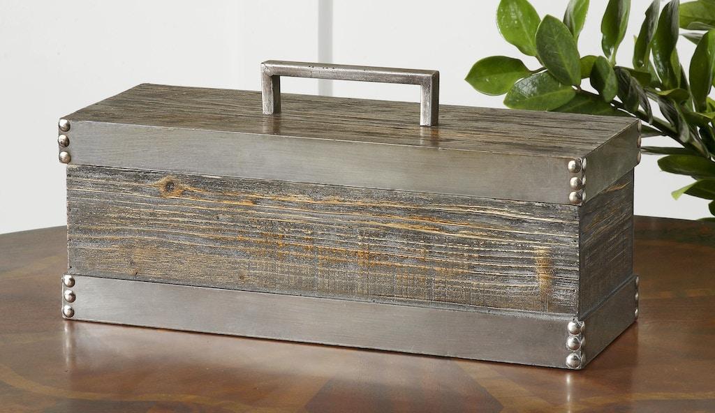 Decorative boxes ottawa : Uttermost accessories lican natural wood decorative box