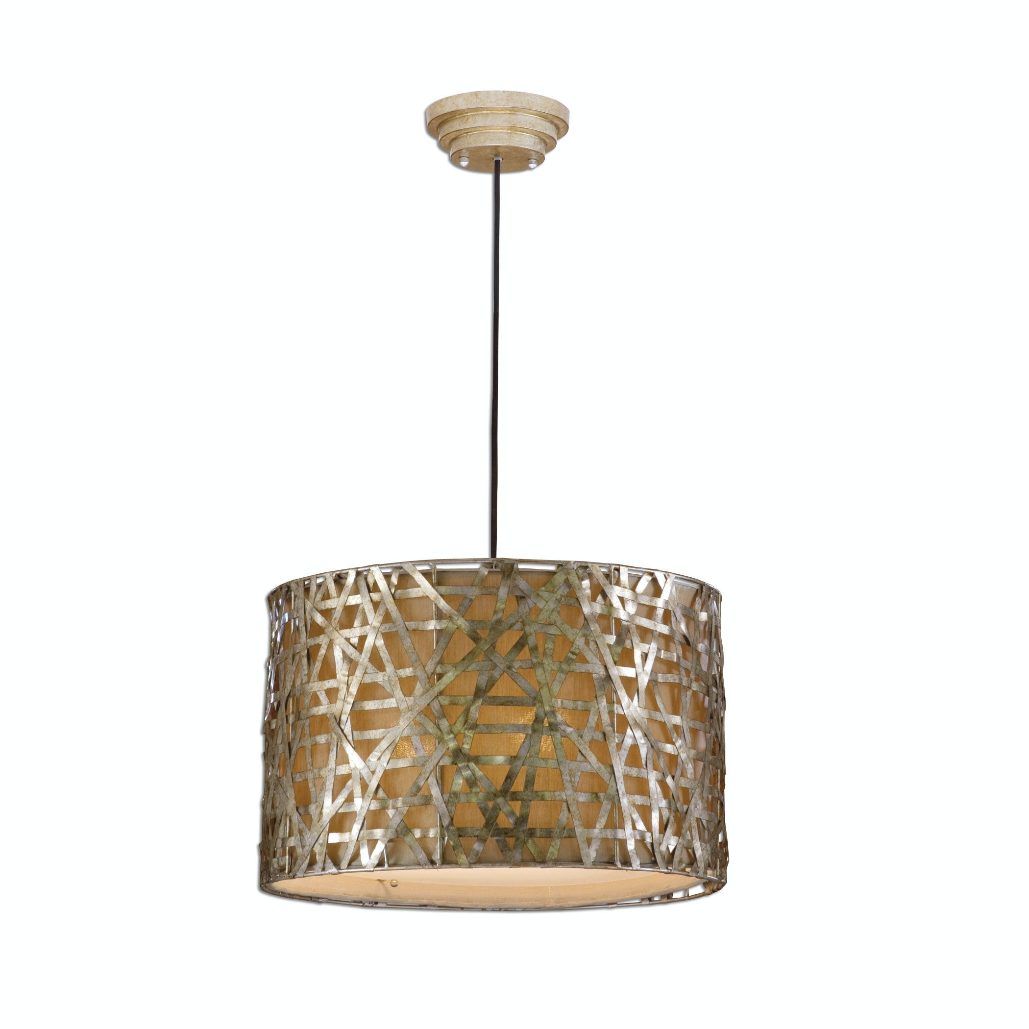 Uttermost Lamps And Lighting Alita Champagne Metal Drum ...