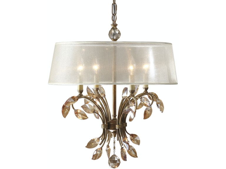 uttermost lamps and lighting alenya 4 light gold metal chandelier