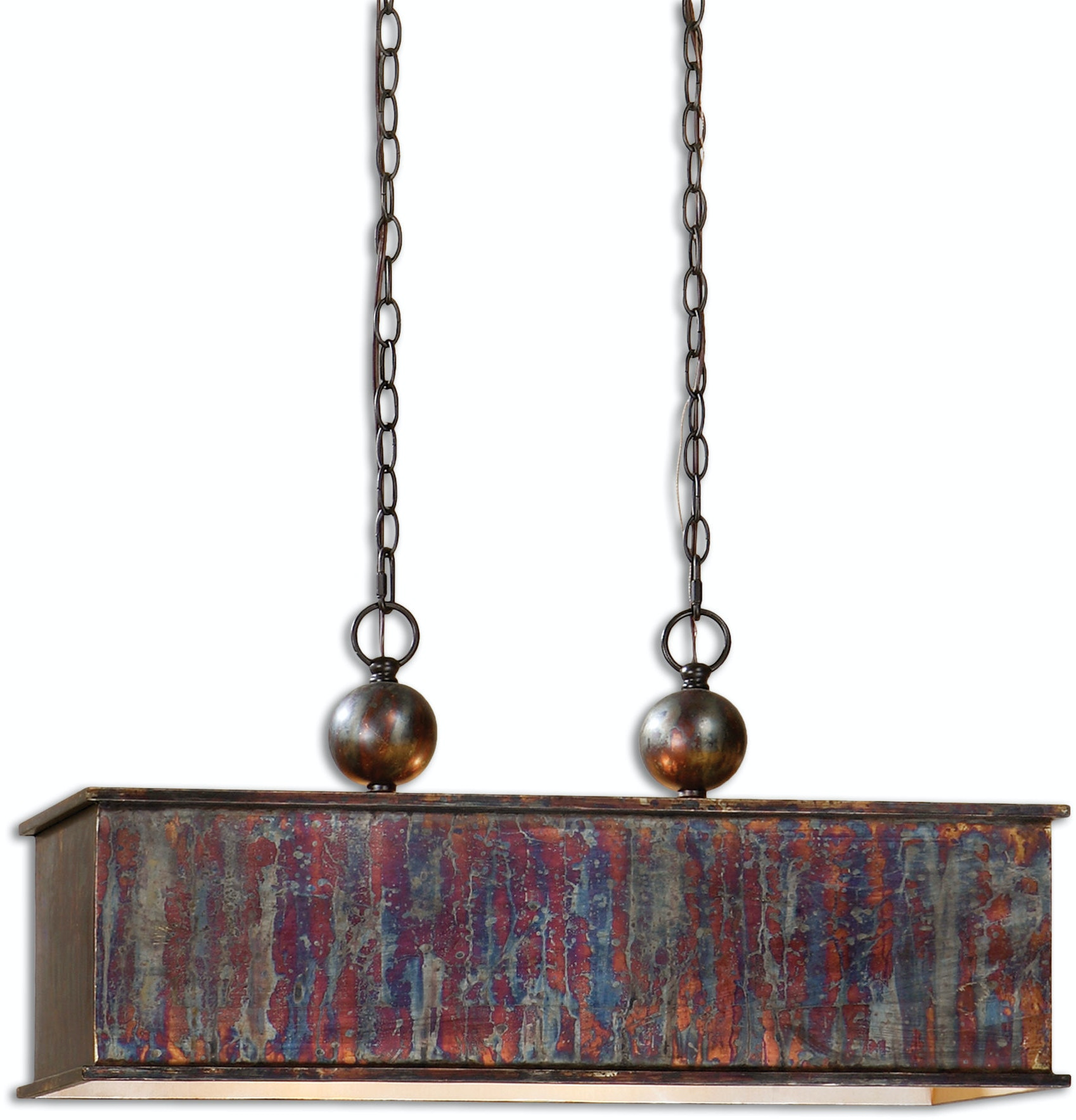 Uttermost Lamps And Lighting Albiano Rectangle 2 Lt Bronze