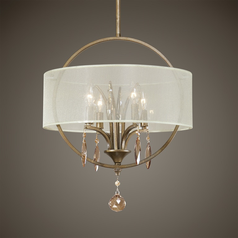 Uttermost lamps and lighting alenya 4 light fabric drum pendant uttermost alenya 4 light fabric drum pendant 21962 aloadofball Image collections
