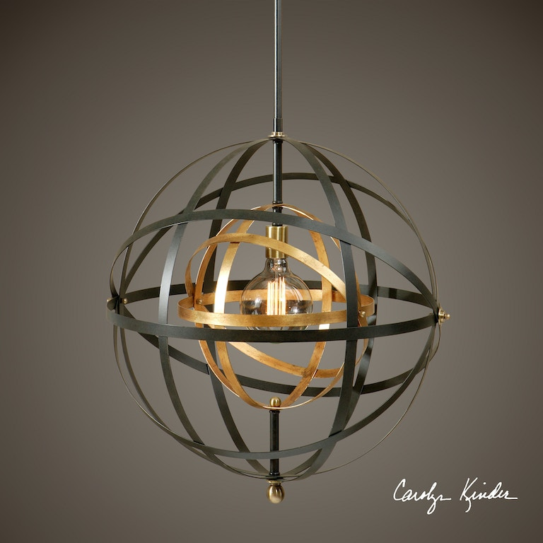 Uttermost 22038 lamps and lighting rondure 1 light sphere pendant uttermost rondure 1 light sphere pendant 22038 aloadofball Image collections