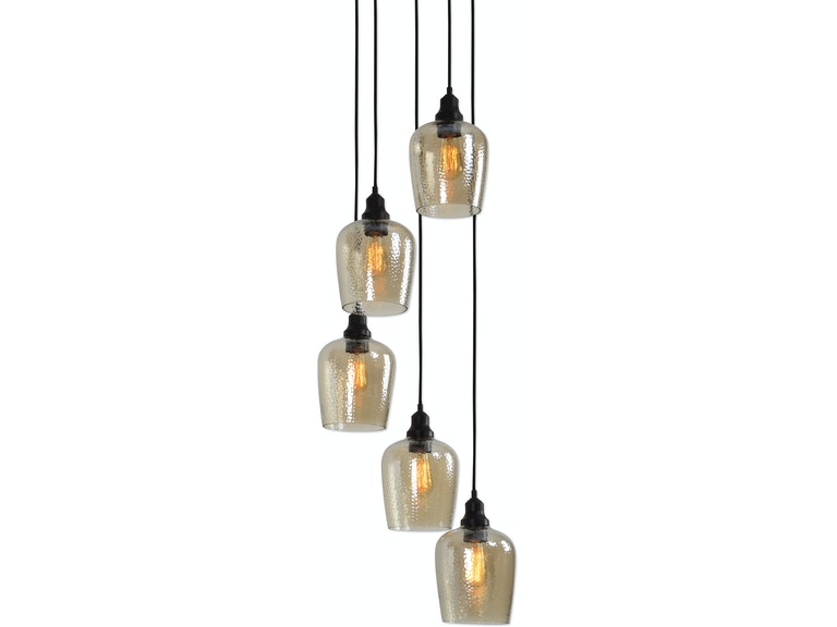 Uttermost Lamps And Lighting Aarush 5 Light Gl Cer