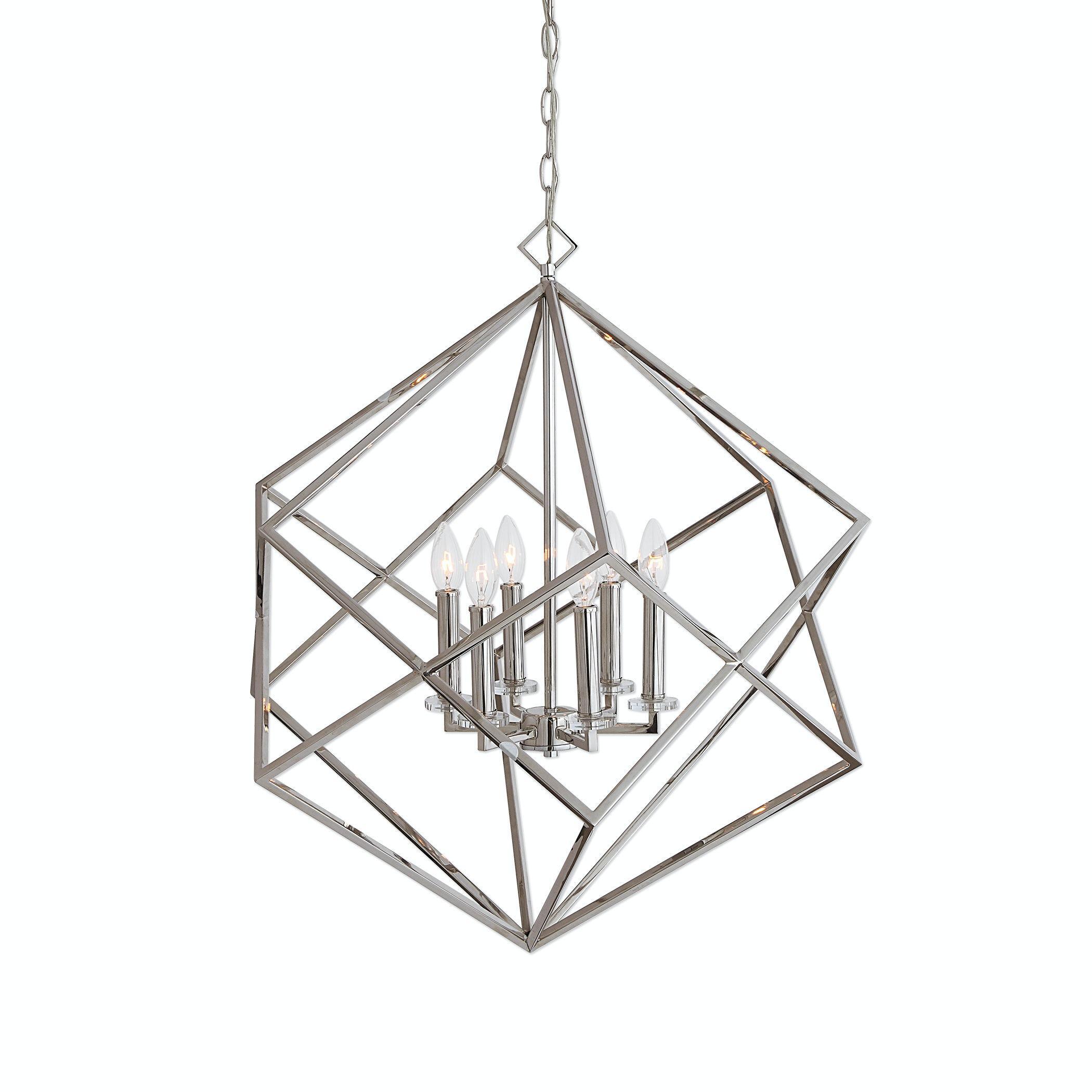 uttermost lighting pendant lighting fixtures uttermost euclid light nickel cube pendant 22122 lamps and lighting