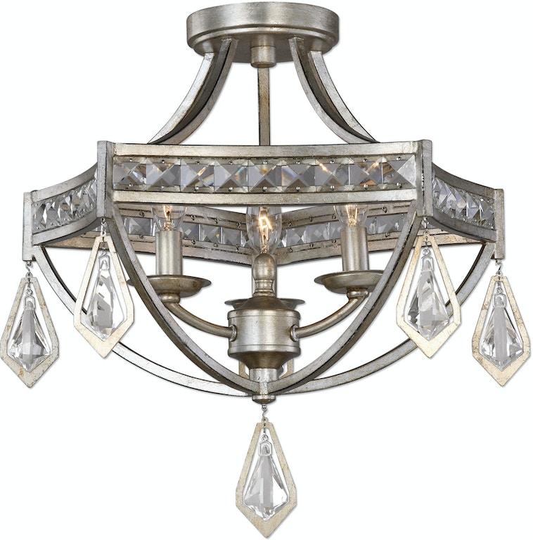 Crystal Chandelier Edmonton: Uttermost Lamps And Lighting Tamworth Modern 3 Light Semi