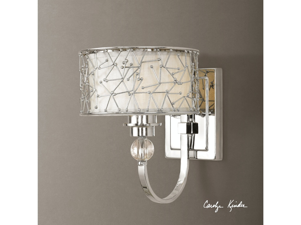 Uttermost Lamps And Lighting Brandon 1 Light Nickel Plated