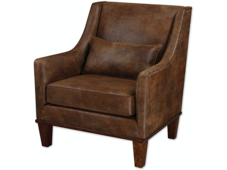 Uttermost Living Room Clay Leather Armchair 23030 - Finesse