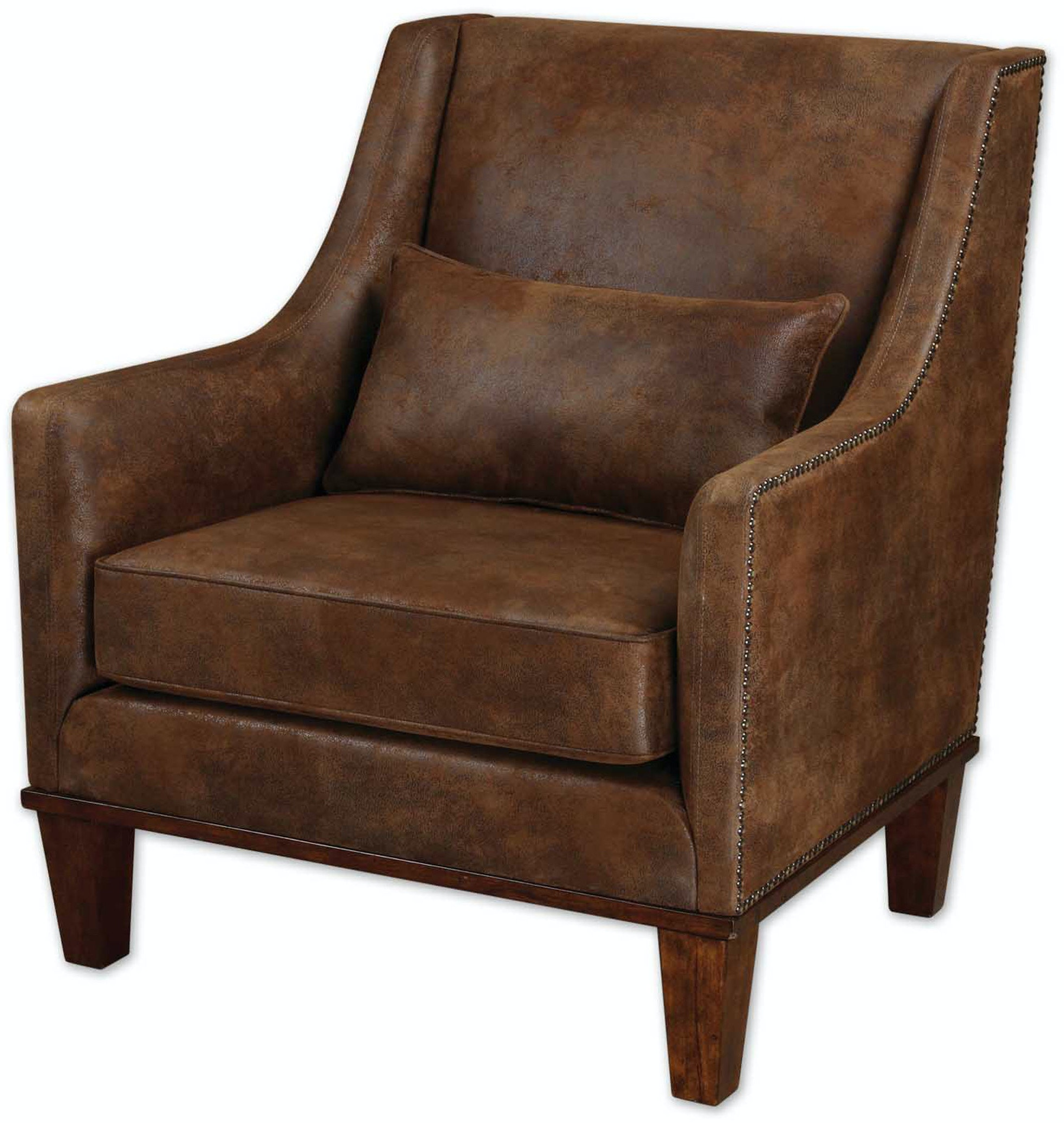 living room armchairs uttermost living room clay leather armchair 23030 carol 10407