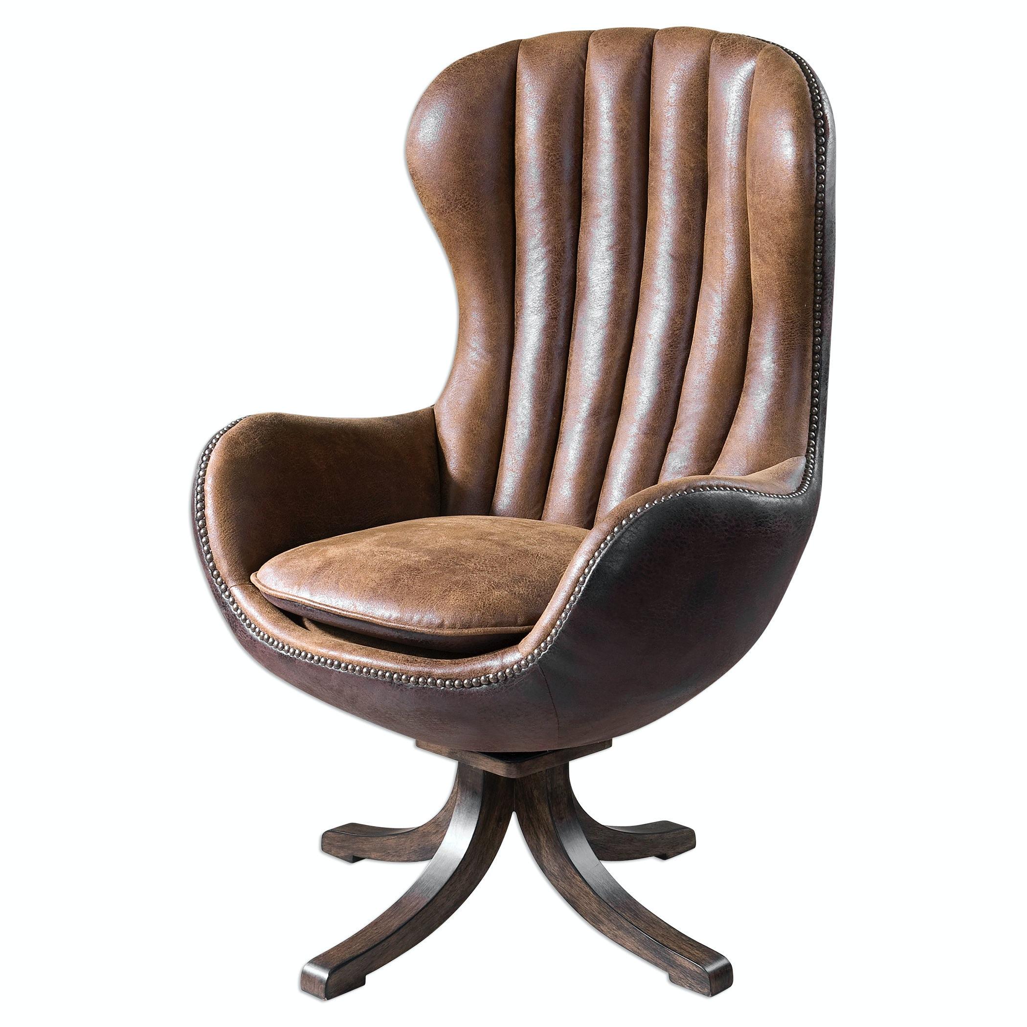 Uttermost Garrett Mid Century Swivel Chair UT23268 From Walter E. Smithe  Furniture + Design