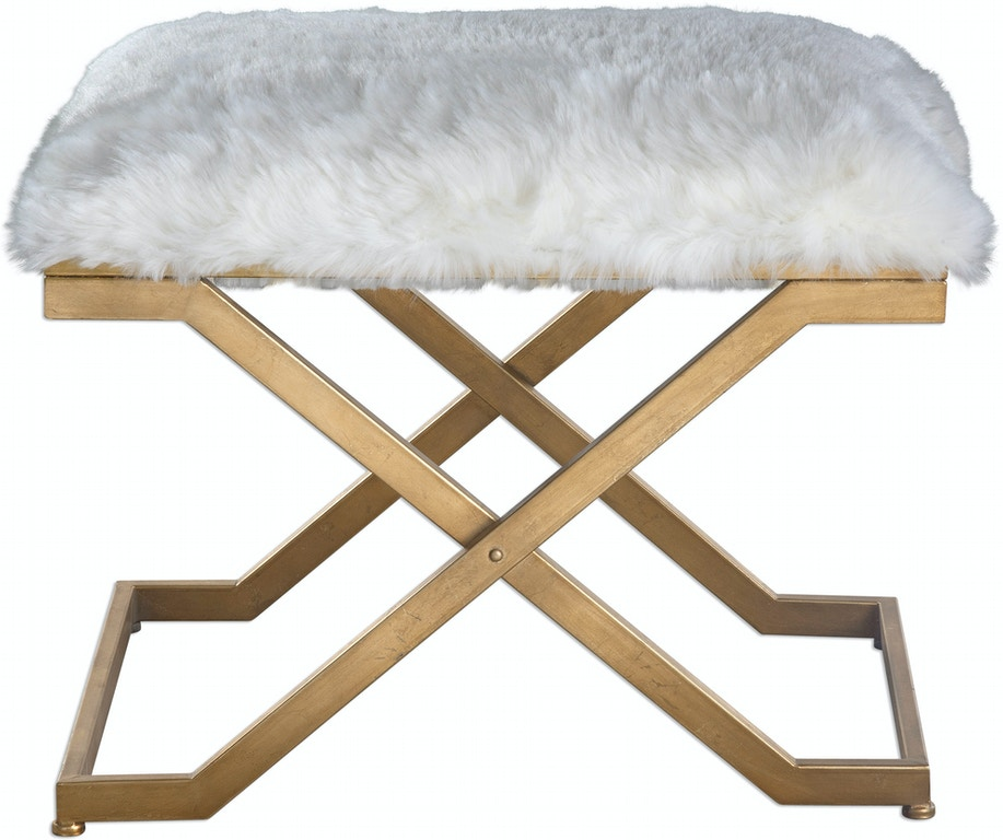 Awe Inspiring Uttermost Living Room Farran Fur Small Bench 23278 Cjindustries Chair Design For Home Cjindustriesco