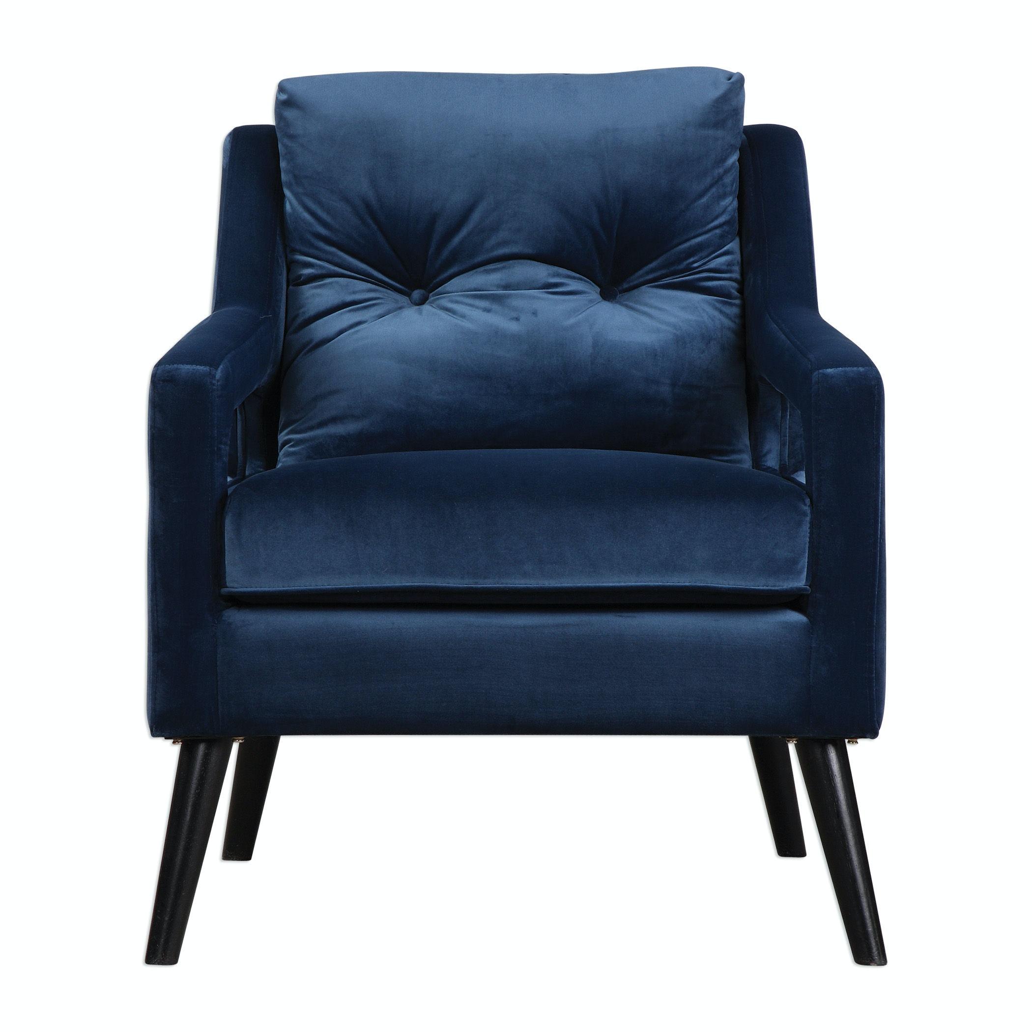 Attirant Uttermost Ou0027Brien Blue Velvet Armchair 23318
