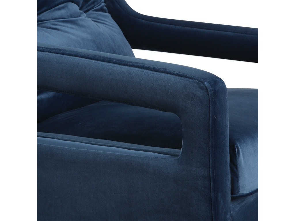 Uttermost Living Room O Brien Blue Velvet Armchair 23318