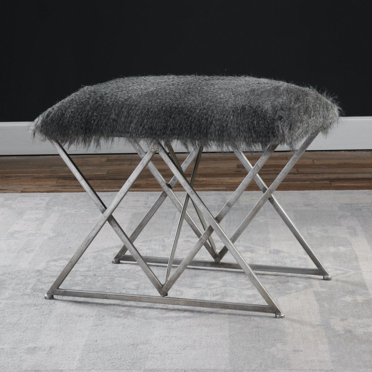 Uttermost Astairess Fur Small Bench 23373