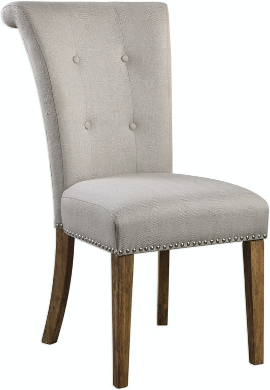 Uttermost Dining Room Lucasse Oatmeal Dining Chair 23374
