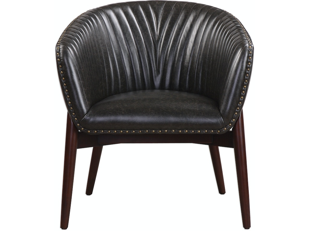 Uttermost Living Room Anders Chenille Accent Chair 23380 Finesse Furniture Interiors