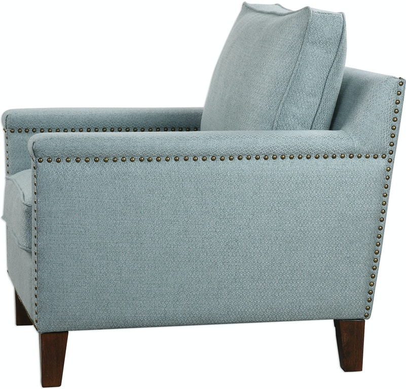 Uttermost Living Room Charlotta Sea Mist Accent Chair