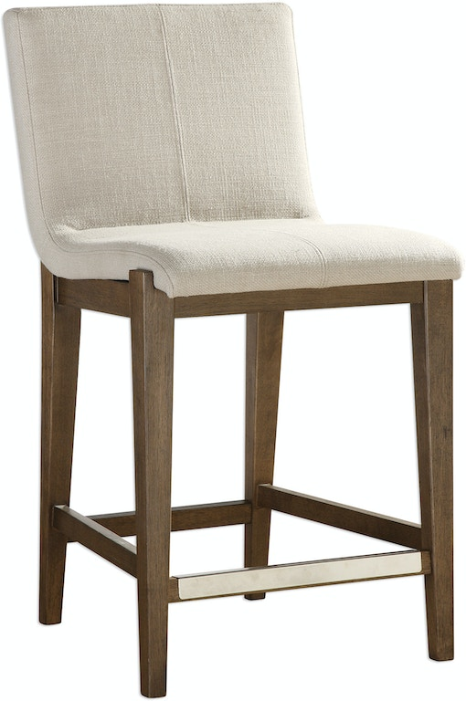 Uttermost Bar And Game Room Klemens Linen Counter Stool