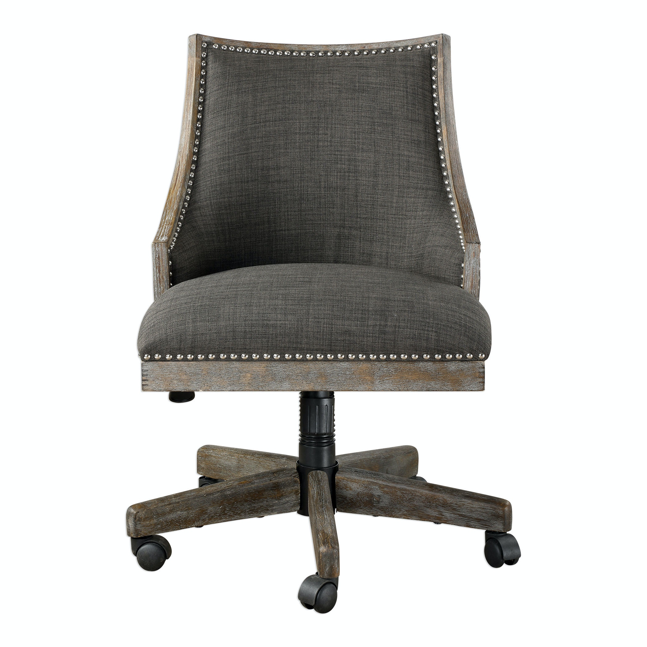 Uttermost Aidrian Charcoal Desk Chair 23431