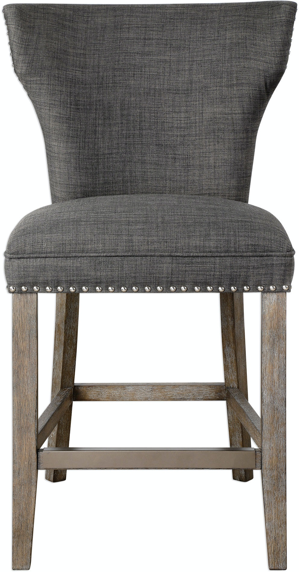Uttermost Bar And Game Room Arnaud Charcoal Counter Stool