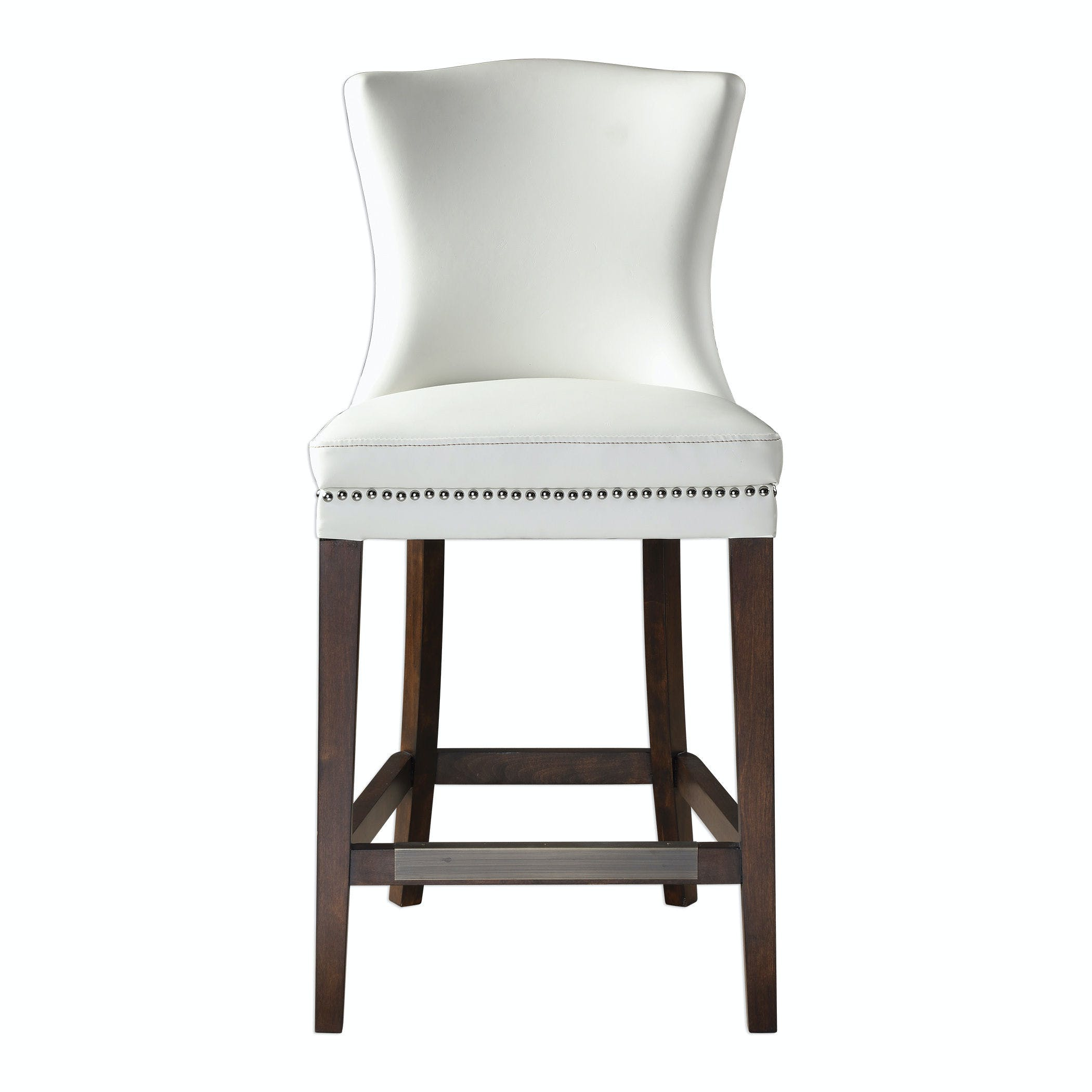 Dariela White Counter Stool Ut23443