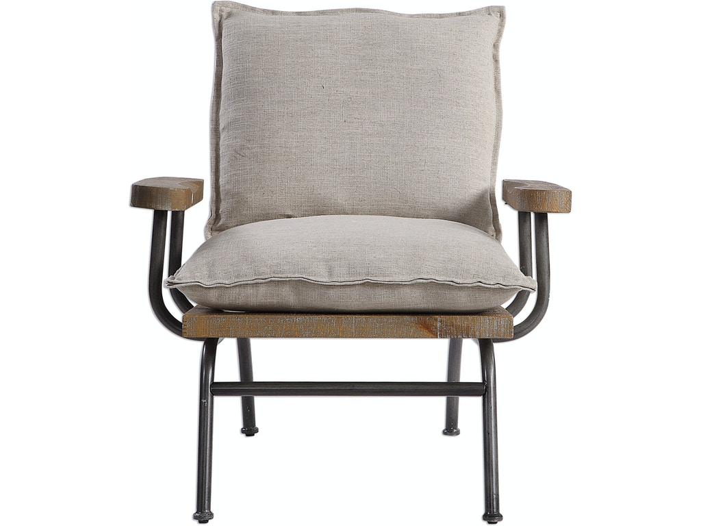Marvelous Uttermost Living Room Declan Industrial Accent Chair Ut23475 Walter E Smithe Furniture Design Machost Co Dining Chair Design Ideas Machostcouk