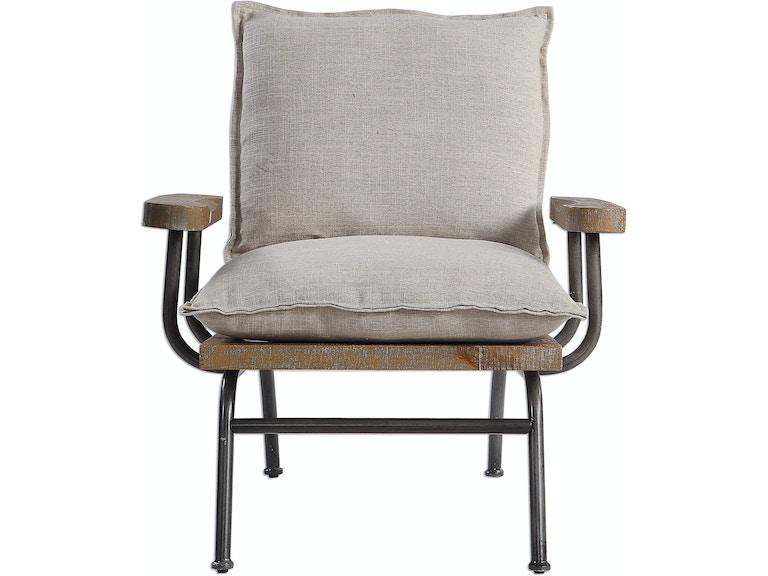 Declan Industrial Accent Chair Ut23475