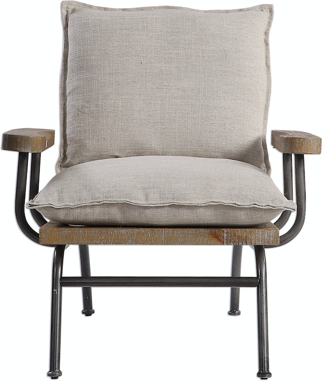 Prime Uttermost Living Room Declan Accent Chair 23475 American Machost Co Dining Chair Design Ideas Machostcouk