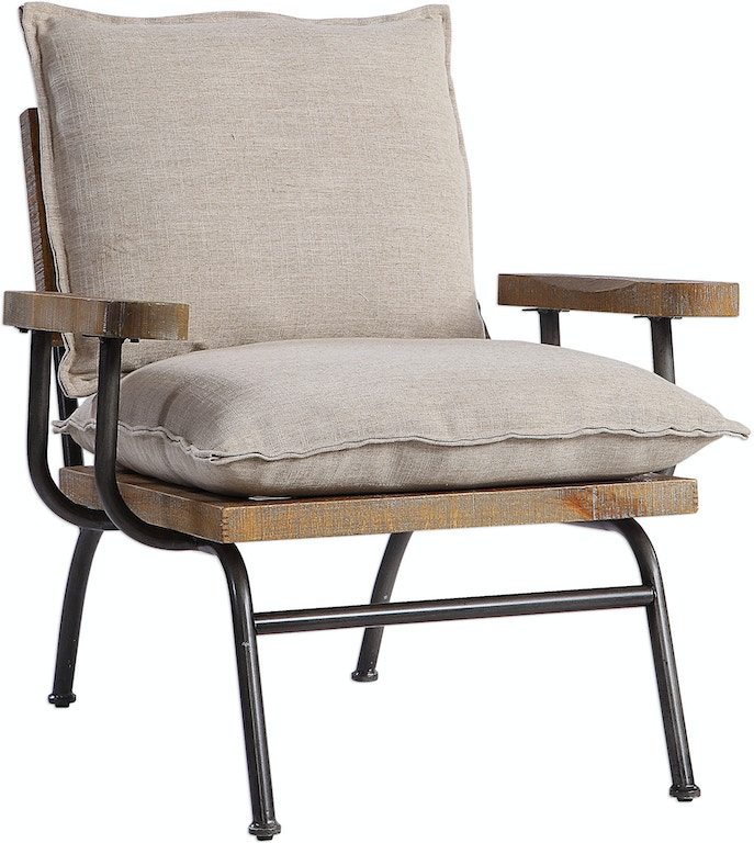 Uttermost Living Room Declan Industrial Accent Chair 23475