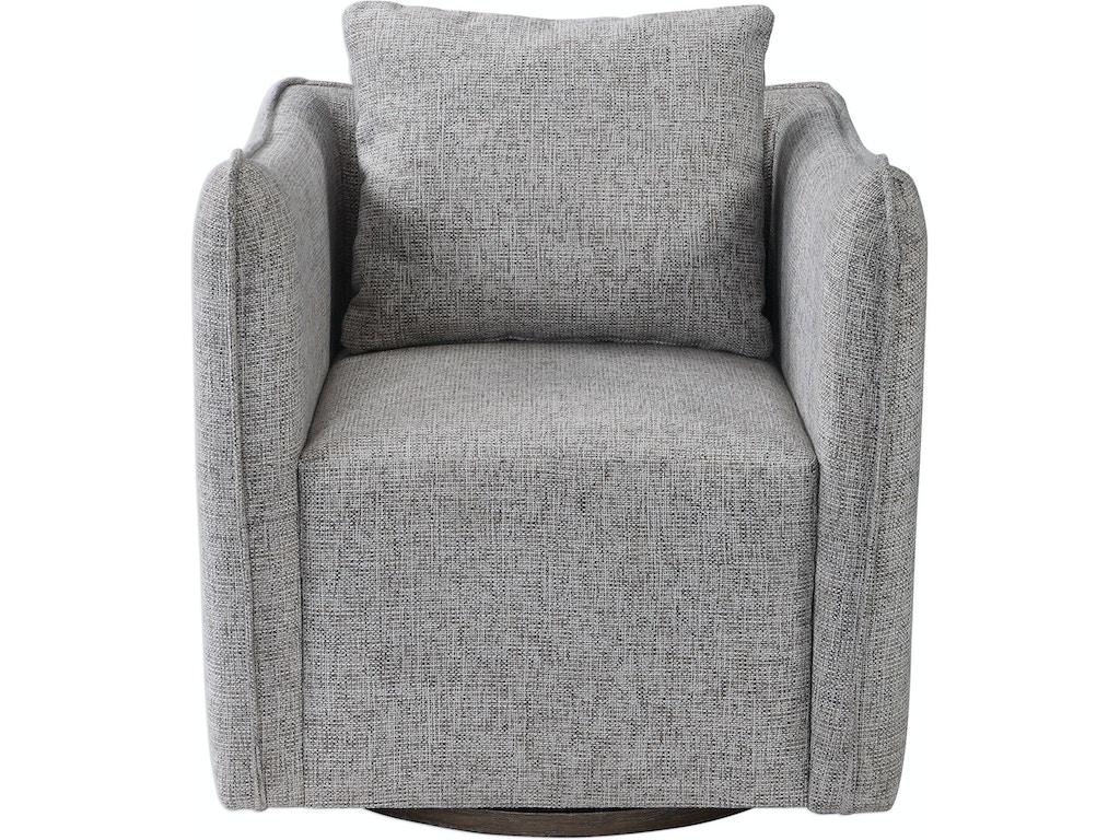 Pleasing Uttermost Living Room Corben Gray Swivel Chair Ut23492 Walter E Smithe Furniture Design Beatyapartments Chair Design Images Beatyapartmentscom