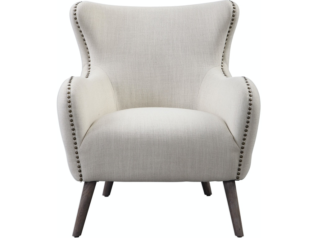 Fantastic Uttermost Living Room Donya Cream Accent Chair 23500 Machost Co Dining Chair Design Ideas Machostcouk
