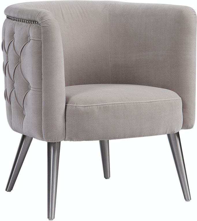 Amazing Uttermost Living Room Haider Tufted Accent Chair 23508 Ibusinesslaw Wood Chair Design Ideas Ibusinesslaworg