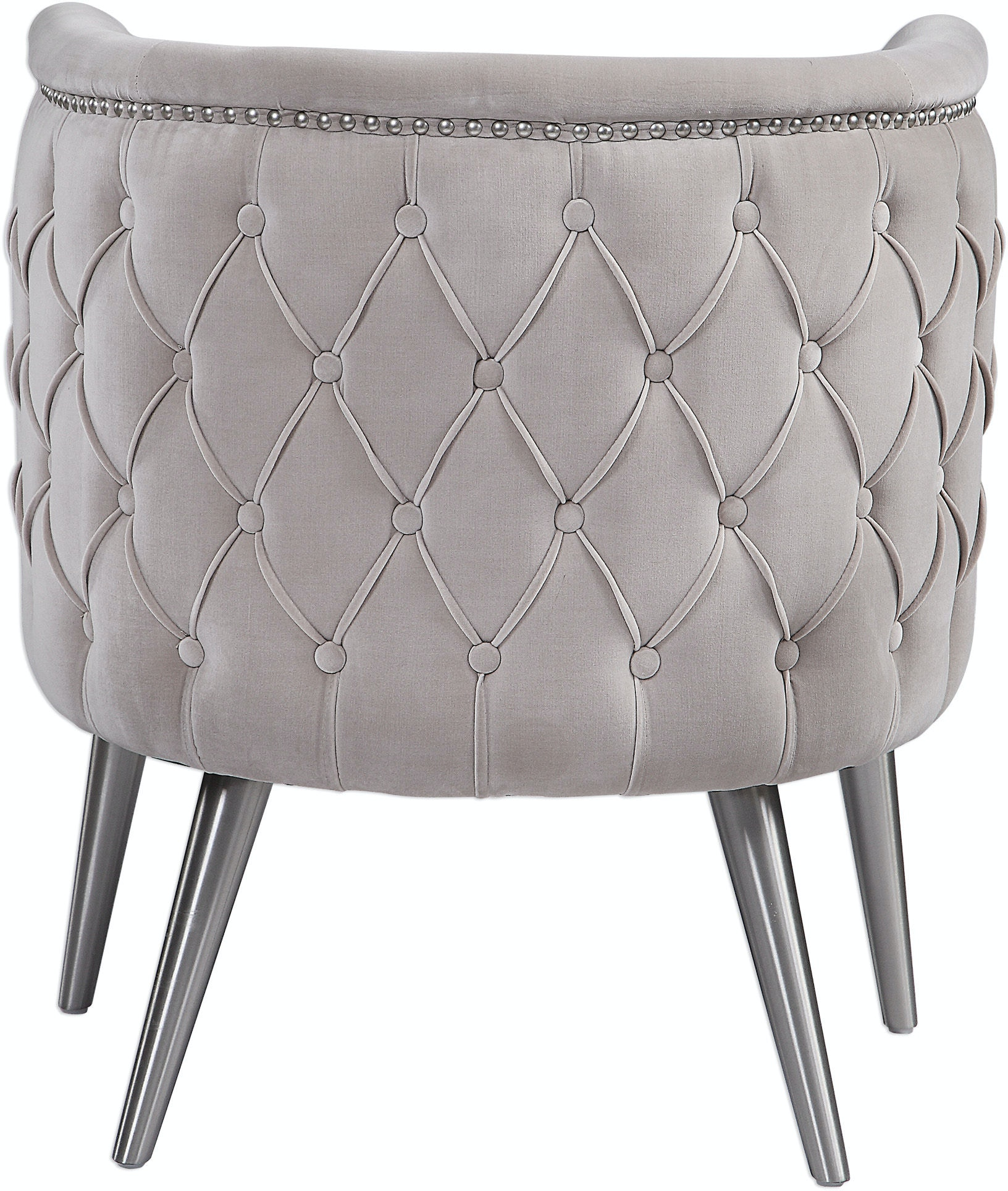Groovy Uttermost Living Room Haider Tufted Accent Chair Ut23508 Walter E Smithe Furniture Design Ibusinesslaw Wood Chair Design Ideas Ibusinesslaworg