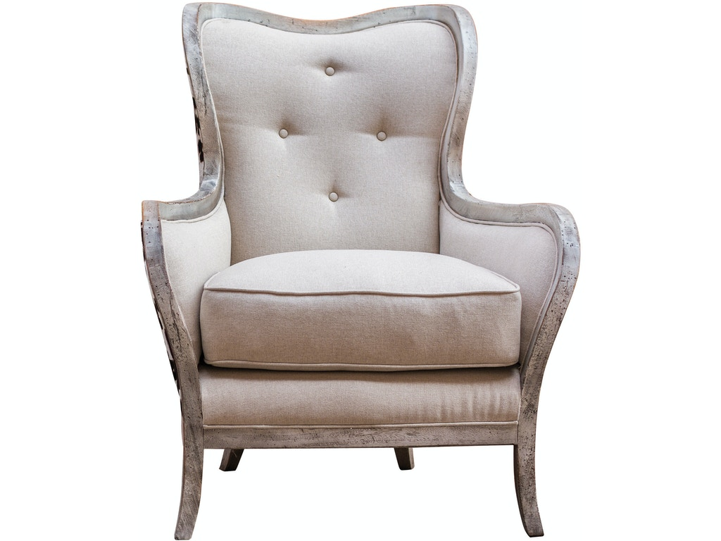 uttermost living room chalina high back armchair 23611 bacons furniture port charlotte fl. Black Bedroom Furniture Sets. Home Design Ideas