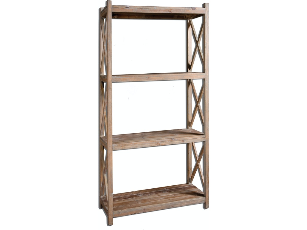 Uttermost Living Room Stratford Reclaimed Wood Etagere 24248 Bowen Town And Country Furniture