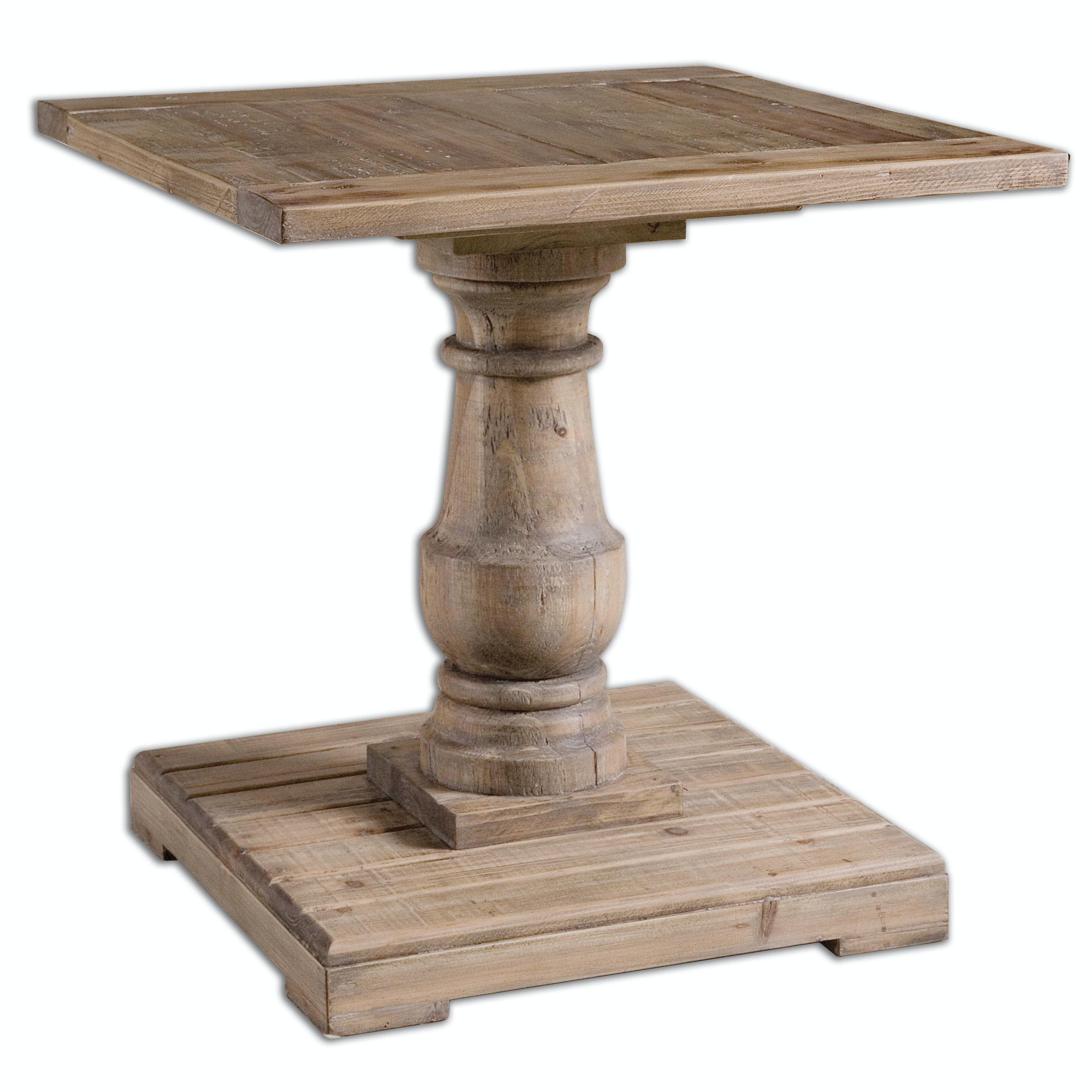 Uttermost Stratford Pedestal End Table 24252