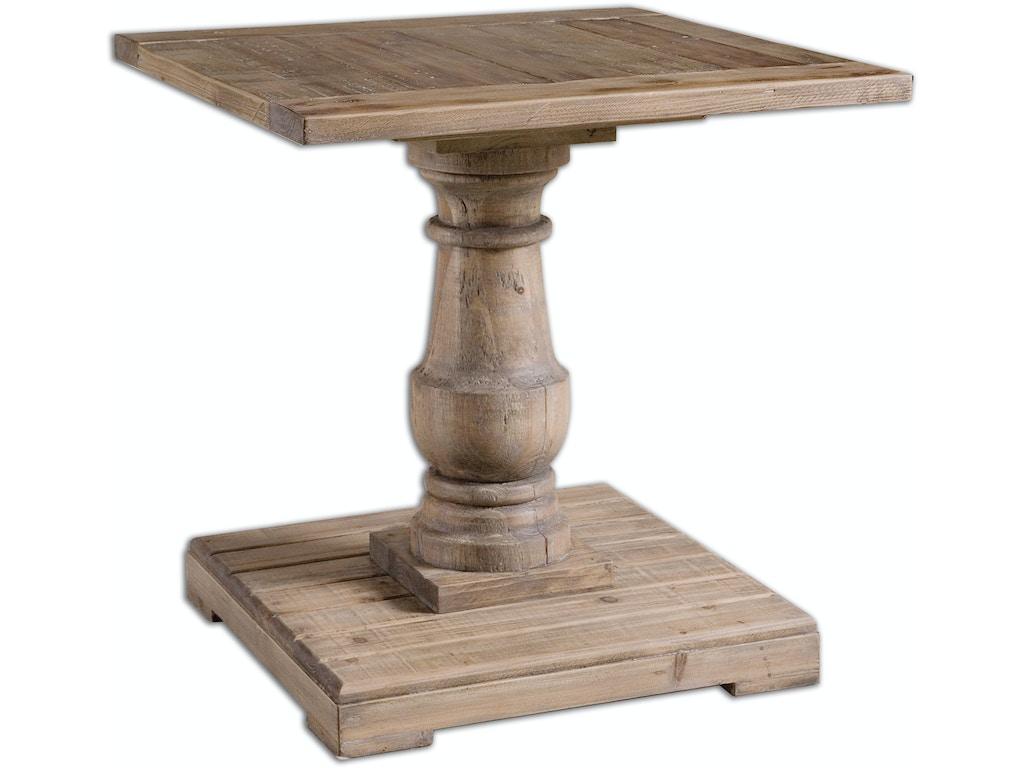 Uttermost Living Room Stratford Pedestal End Table 24252 Indian River Furniture Rockledge Fl