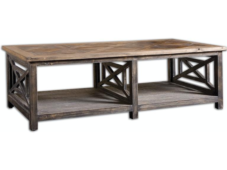 Uttermost Living Room Spiro Reclaimed Wood Cocktail Table - Reclaimed wood coffee table chicago