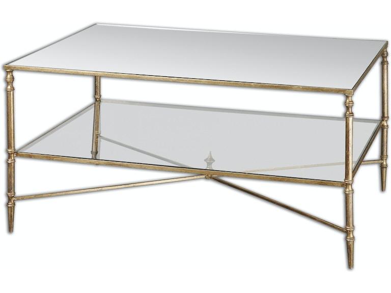 Uttermost Living Room Henzler Mirrored Glass Coffee Table - Uttermost henzler coffee table