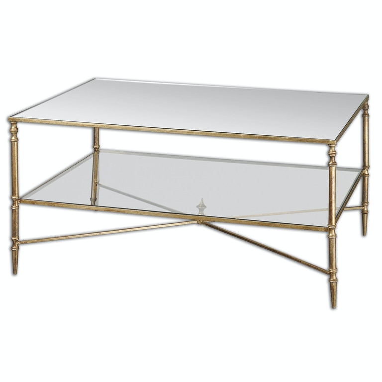 Uttermost Living Room Henzler Mirrored Glass Coffee Table 24276