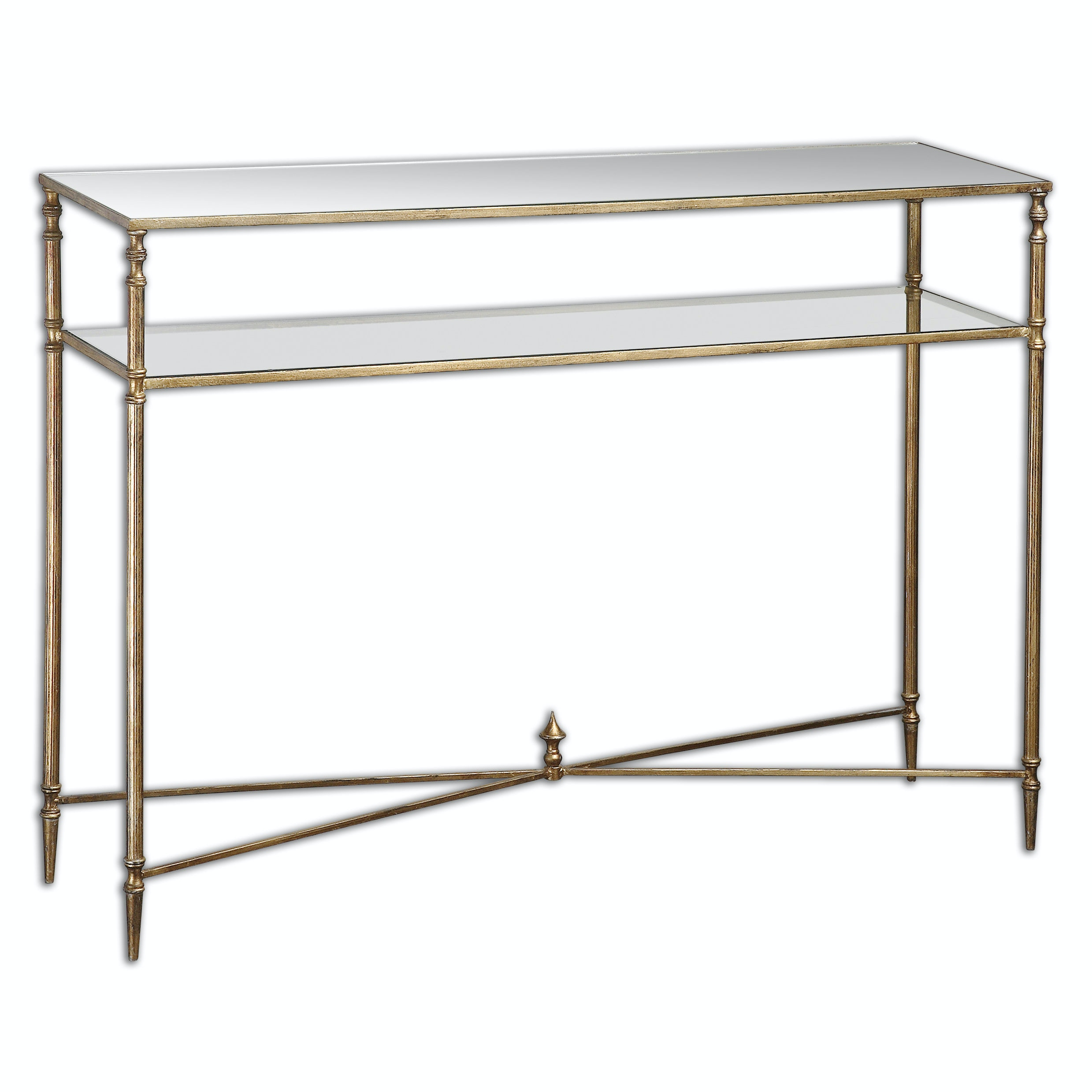 Uttermost Living Room Henzler Mirrored Glass Console Table 24278
