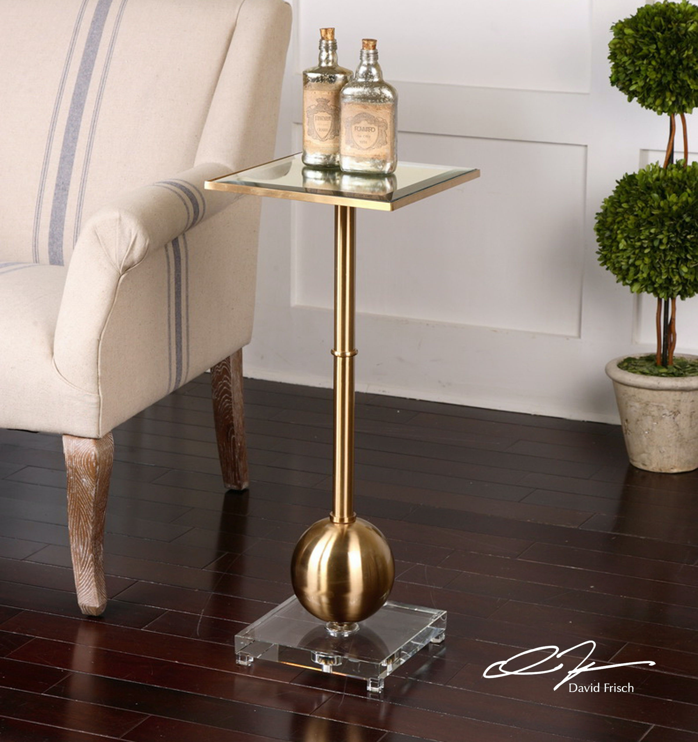 Medium image of uttermost laton mirrored accent table 24502