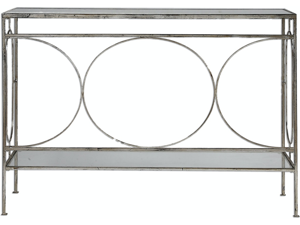 Uttermost Living Room Luano Silver Console Table 24541
