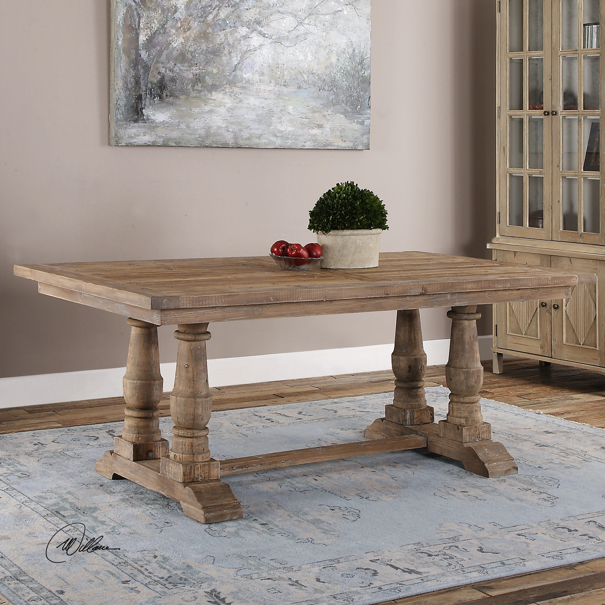 Awesome Uttermost Stratford Salvaged Wood Dining Table 24557