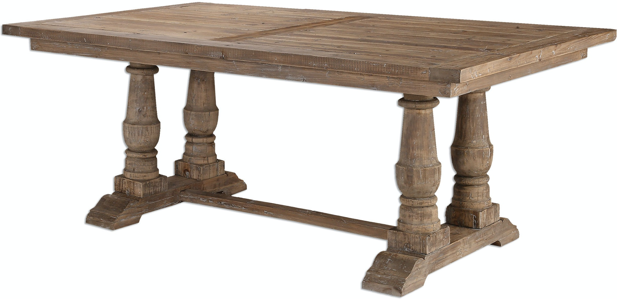 Uttermost Dining Room Stratford Salvaged Wood Table Ut24557 Walter E Smithe Furniture Design