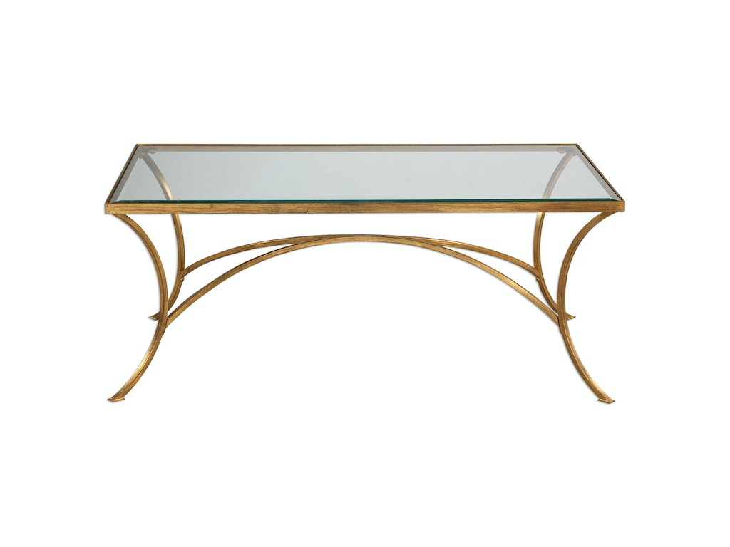 Uttermost living room alayna gold coffee table uttermost alayna gold coffee table 24639 geotapseo Images