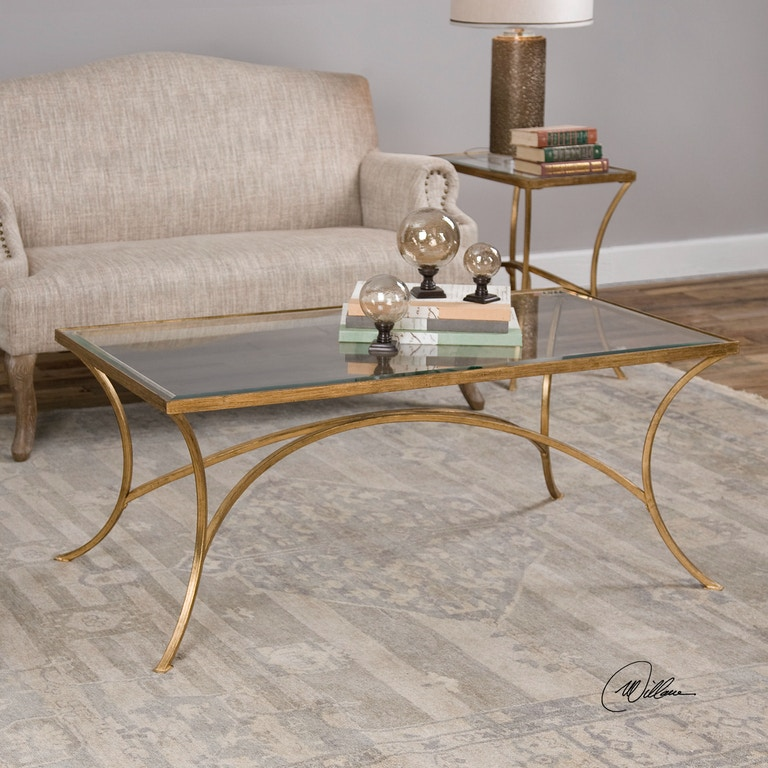 Uttermost Living Room Alayna Gold Coffee Table 24639 Lenoir Empire Furniture Johnson City Tn