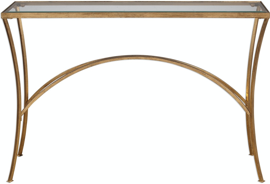 Uttermost Living Room Alayna Gold Console Table 24640