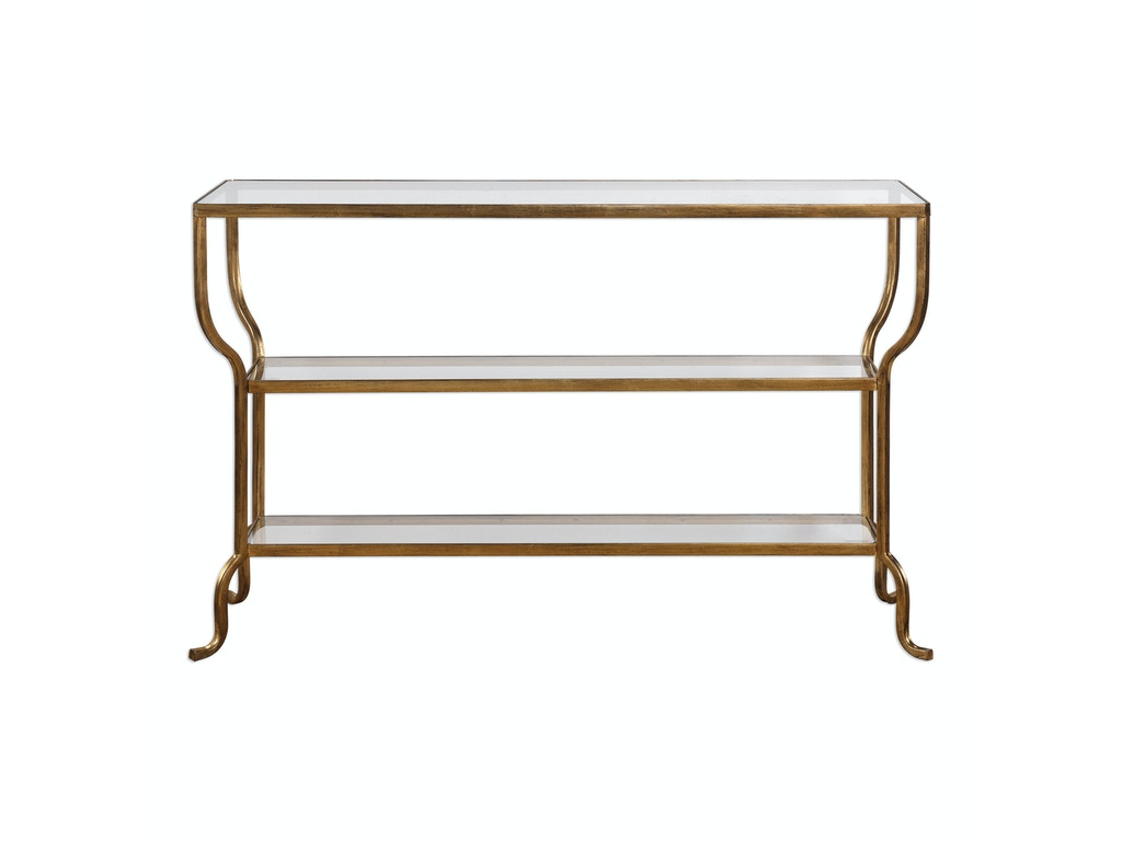Uttermost Living Room Deline Gold Console Table