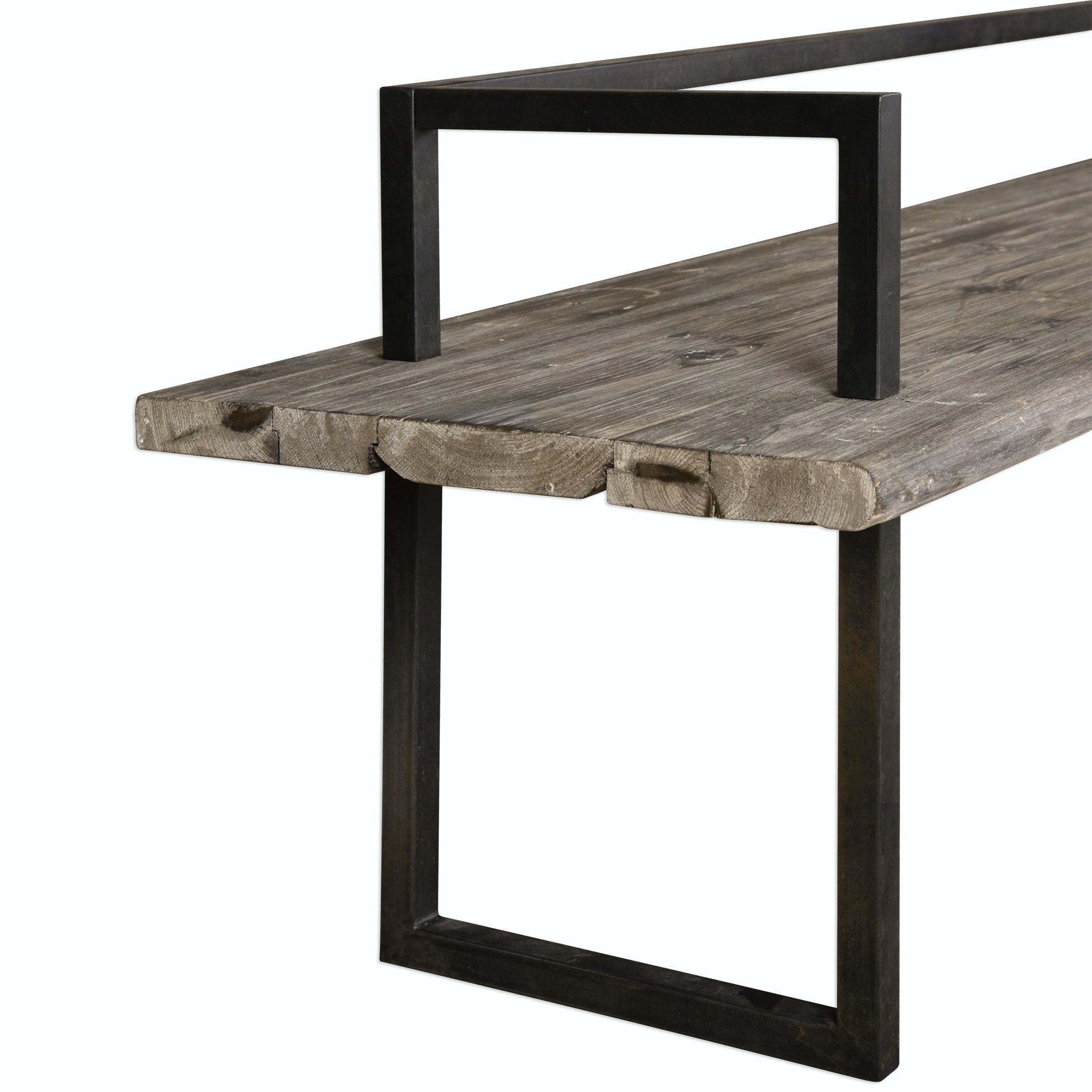 Uttermost Herbert Reclaimed Wood Bench 24701