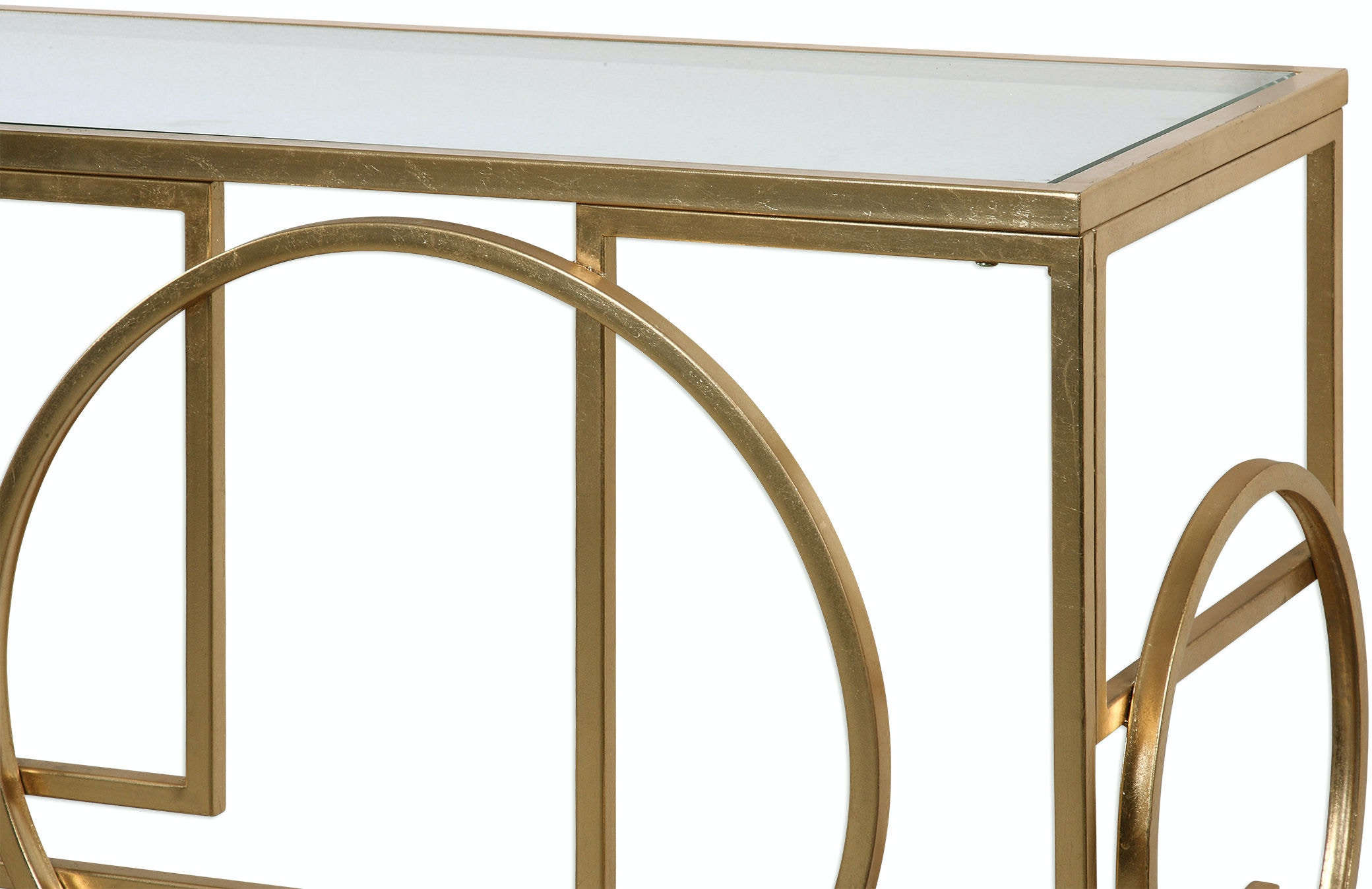 Uttermost Living Room Metria Gold Console Table